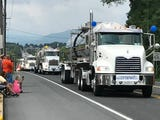 The Franklin County Truck and Motorcycle Convoy rolled through Chambersburg on Saturday, Aug. 18, 2018, to benefit the Make-A-Wish Foundation.