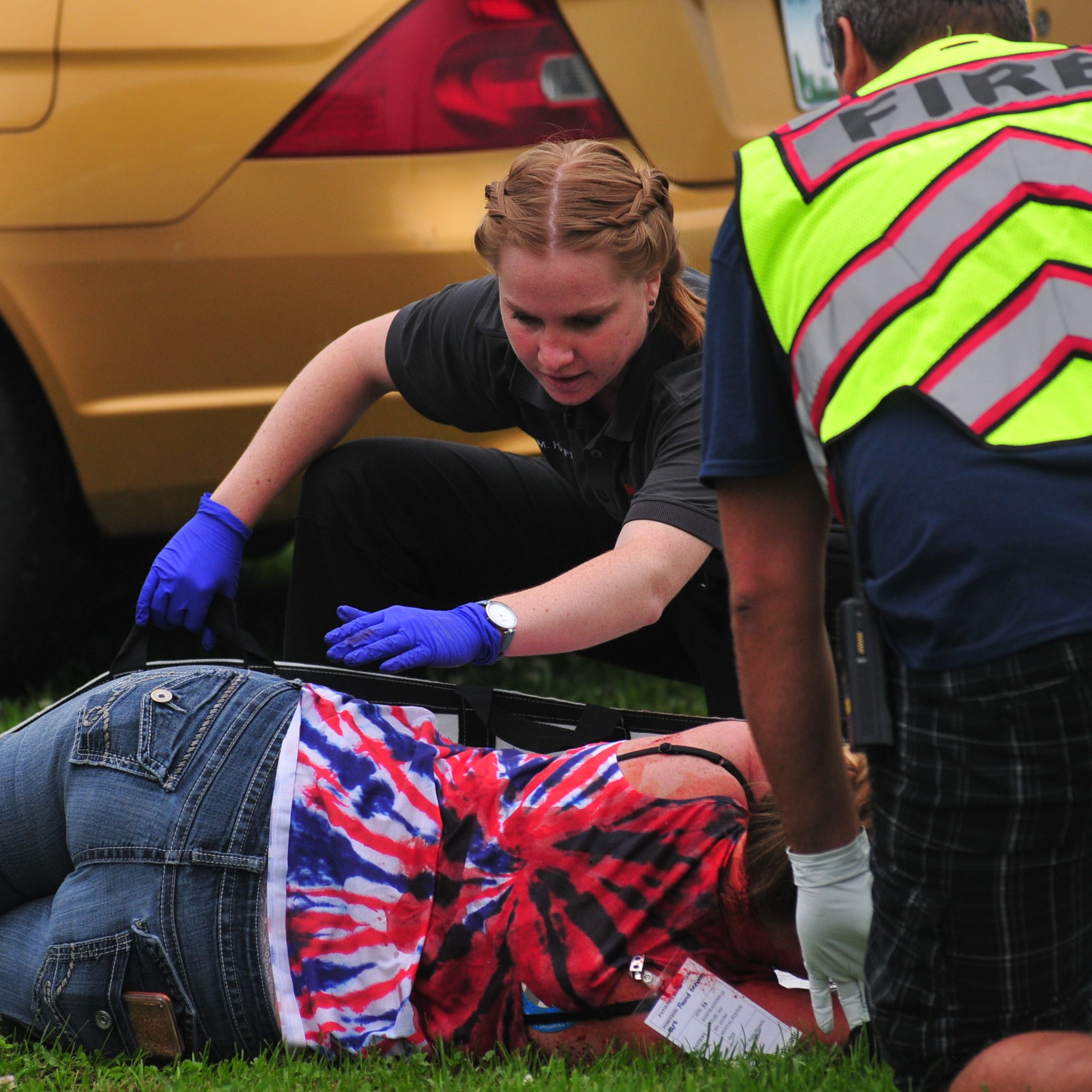 Fake wounds, real screams create chaotic active shooter training scenario