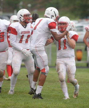 The Richmond High School football team opened the 2018 season with a 34-16 win over Connersville Friday.