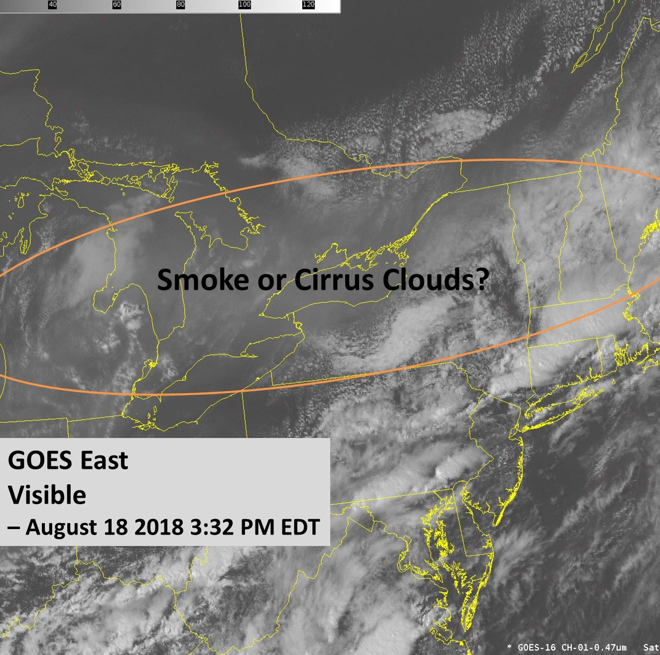 Wildfire smoke masquerades as cloud cover in western New York