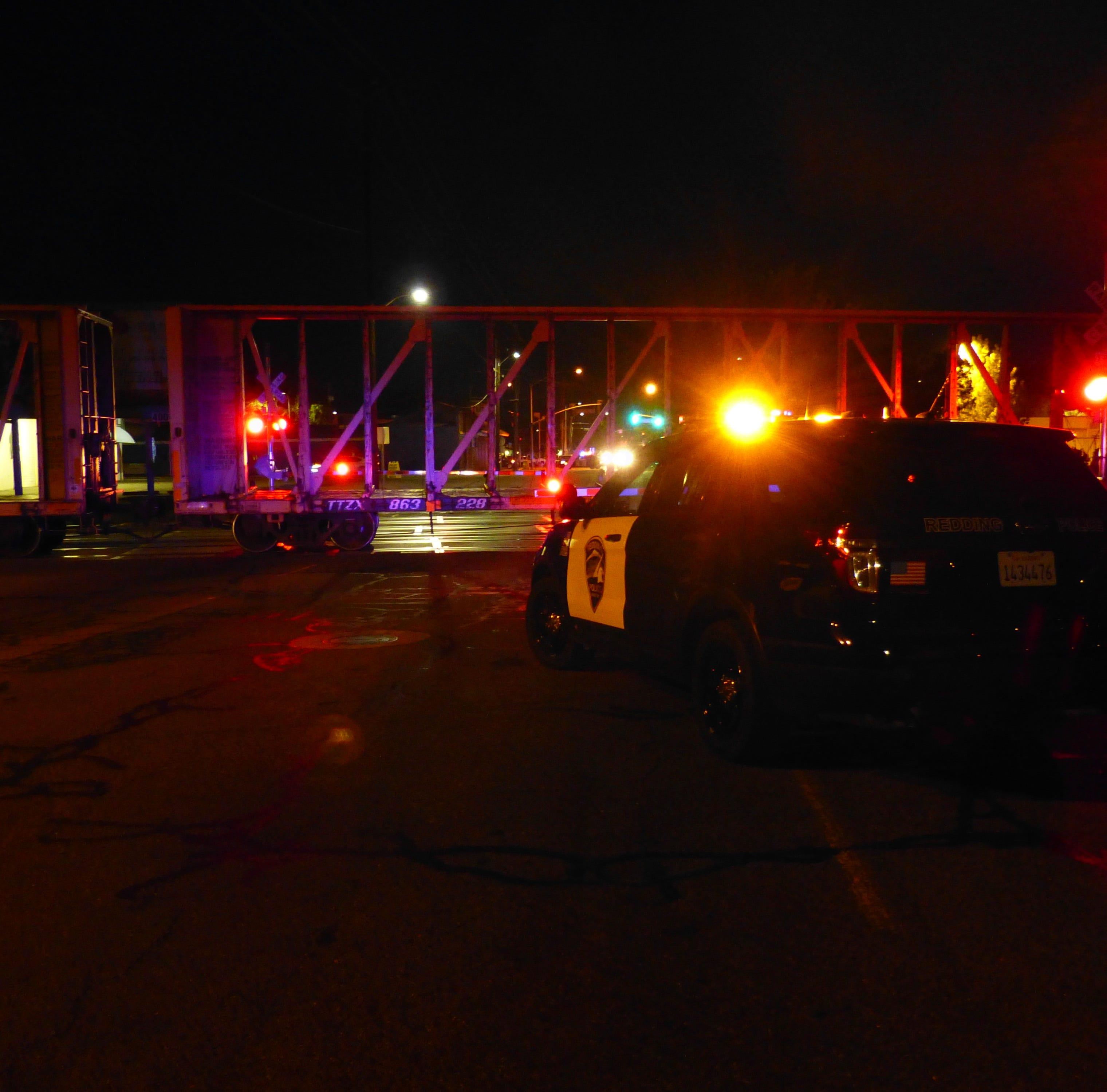 Train strikes, kills pedestrian in Redding