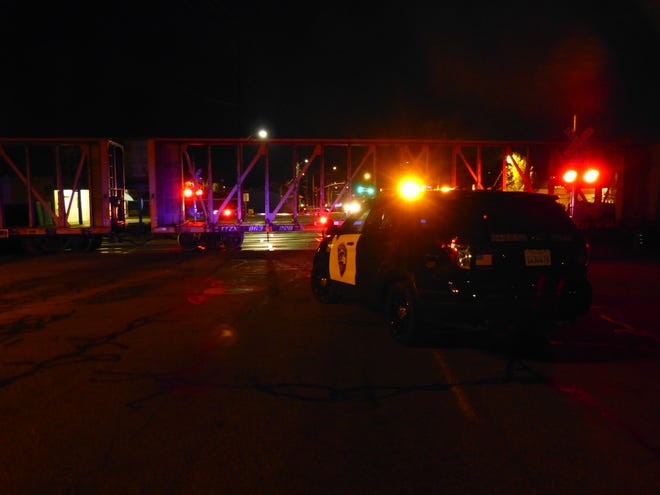 A pedestrian was hit by a train Aug. 17. The collision blocked rail crossings in downtown Redding.