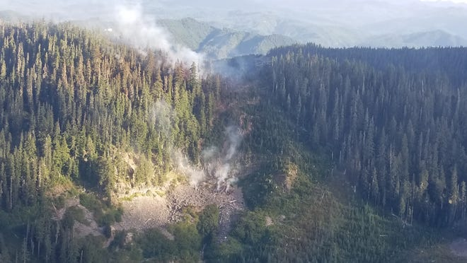 A small area closure has been put into effect to give firepersonnel and crews the space to stage equipment and monitor the Byars Peak Fire, located five miles north of Detroit.