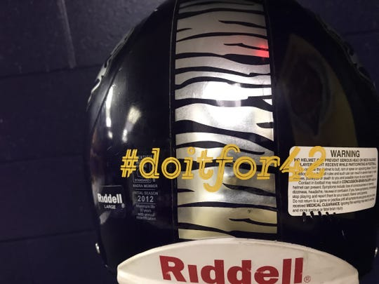 Logansport football helmets will carry the hashtag #doitfor42 this fall in honor of Javier Simpson, who died in a drowning accident in June.