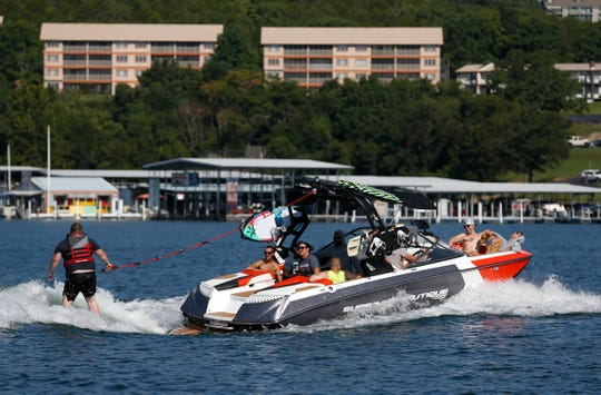 Wake for Warriors partnered with boat dealer MarineMax to give veterans a chance to wakeboard and wake surf on Table Rock Lake on Saturday, Aug. 18, 2018. The dealership's Branson-area location closed July 31, 2019.