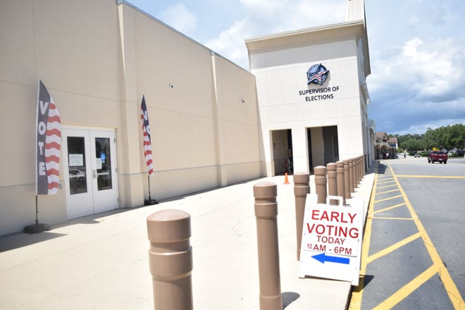 The early voting site at the Supervisor of Elections Office. Early voting for the General Election runs Oct. 22-Nov. 4.