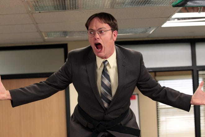 "Rainn Wilson (as Dwight Schrute from ""The Office"") has faced death. And it was embarrassing."