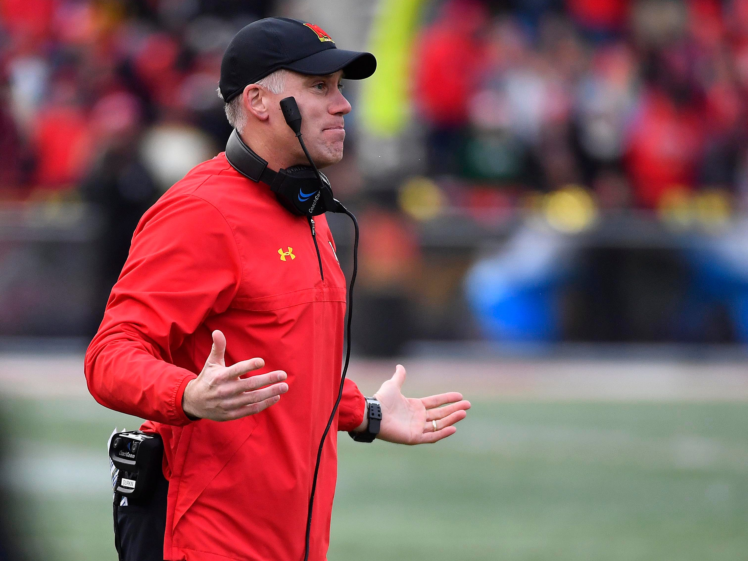 DJ Durkin, who is on leave, during a 2017 game.