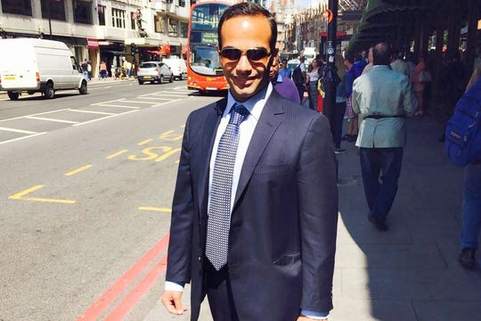 This undated image posted on his Linkedin profile shows George Papadopoulos, a former Trump campaign adviser, posing on a street of London.