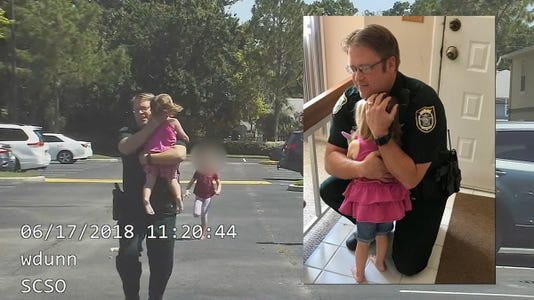 Hot cars: Florida deputy saves 3-year-old girl trapped in ...