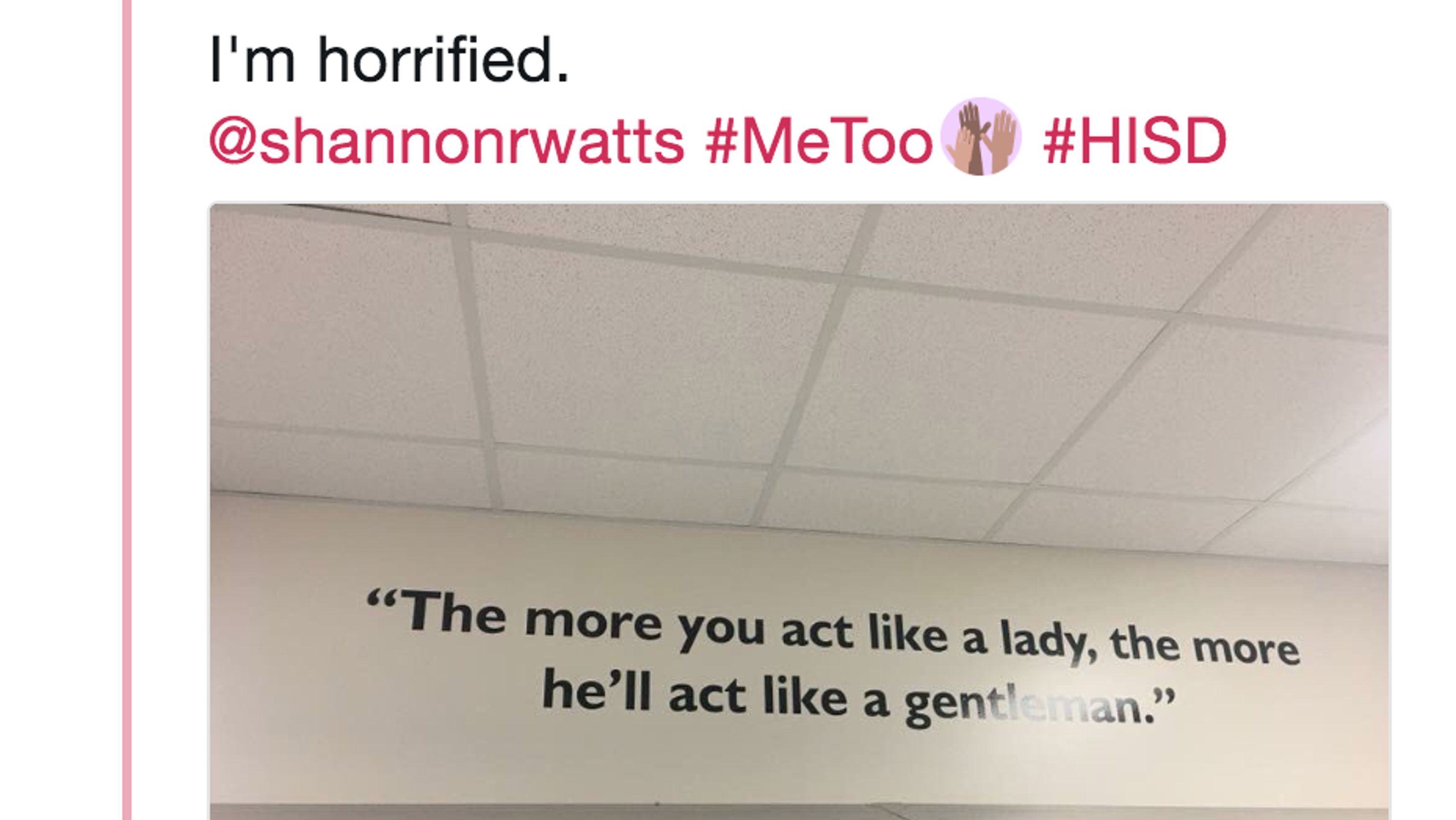 Texas School Removes Sexist Quotes That Told Girls Behavior As A Lady