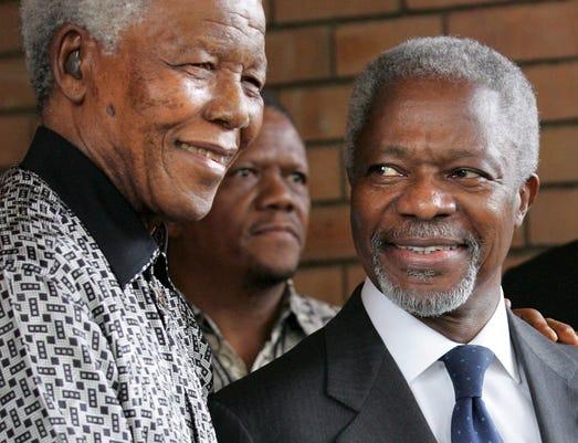 Epa File South Africa People Kofi Annan Obit Hum People Zaf
