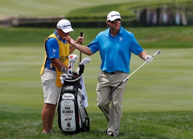 Ryan Helminen, right, a two-time winner of the Wisconsin State Open, is in the field for the 98th annual tournament that starts Monday at North Shore Golf Club in Menasha.