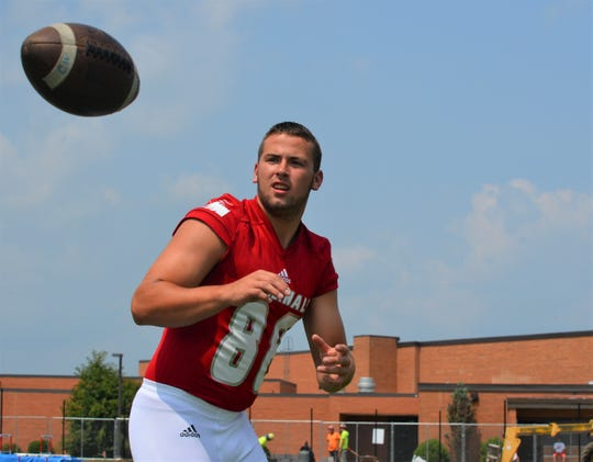 Coldwater tight end Dylan Targgart