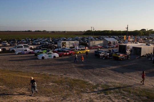 Racers and fans gather at South Texas Speedway on Saturday, August, 19, 2018 in Corpus Christi.