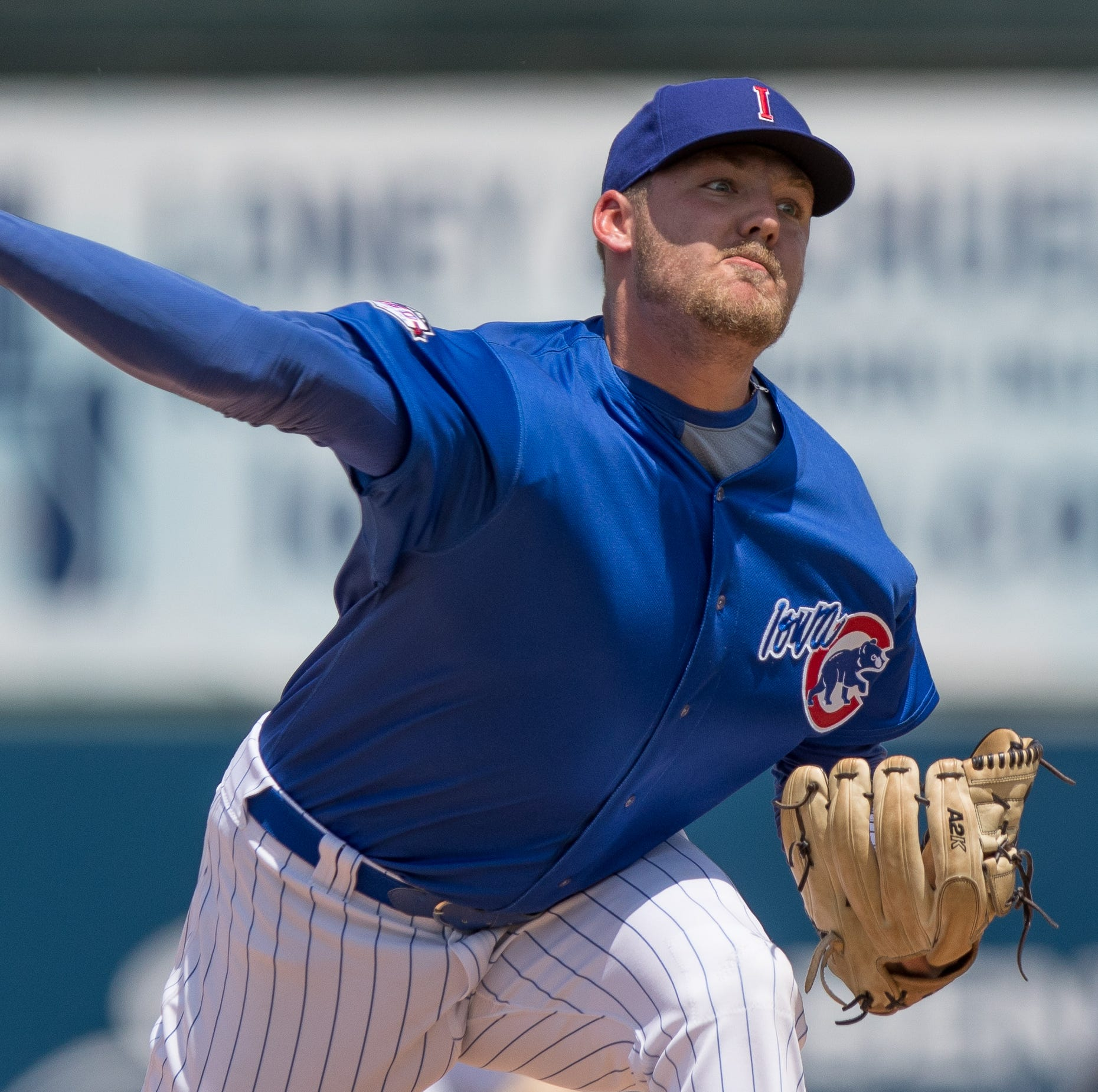 Iowa Cubs reliever Dakota Mekkes either headed back to school or to the big leagues in September