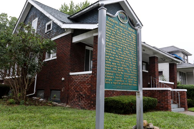 The city of Detroit has received a $500,000 federal grant to expand and preserve the Dr. Ossian Sweet home and adjacent houses in Detroit, seen here on Thursday, Aug. 16, 2018. The home at 2905 Garland Avenue, one of the first places where racial segregation was challenged in Michigan, was added to the National Register of Historic Places in 1985.
