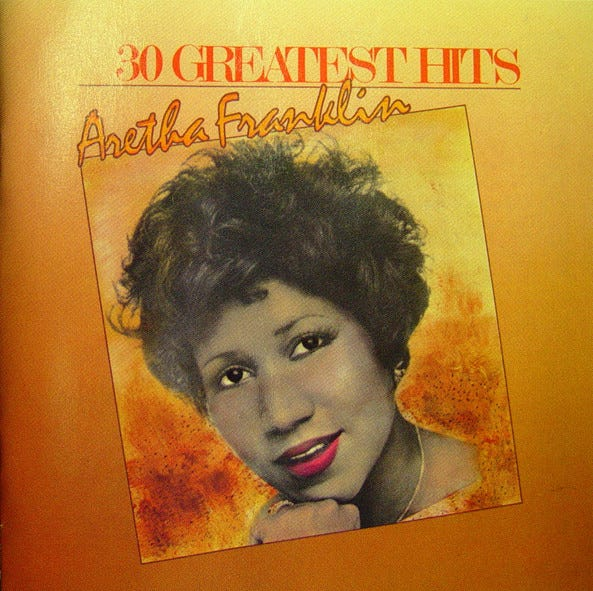 Aretha Franklin's 'Greatest Hits' rockets to No. 7