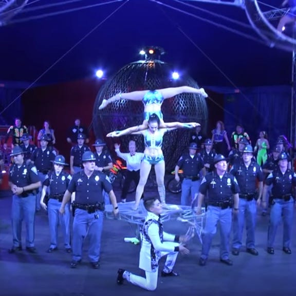 Watch Indiana State Police officers take on lip sync challenge at the Indiana State Fair