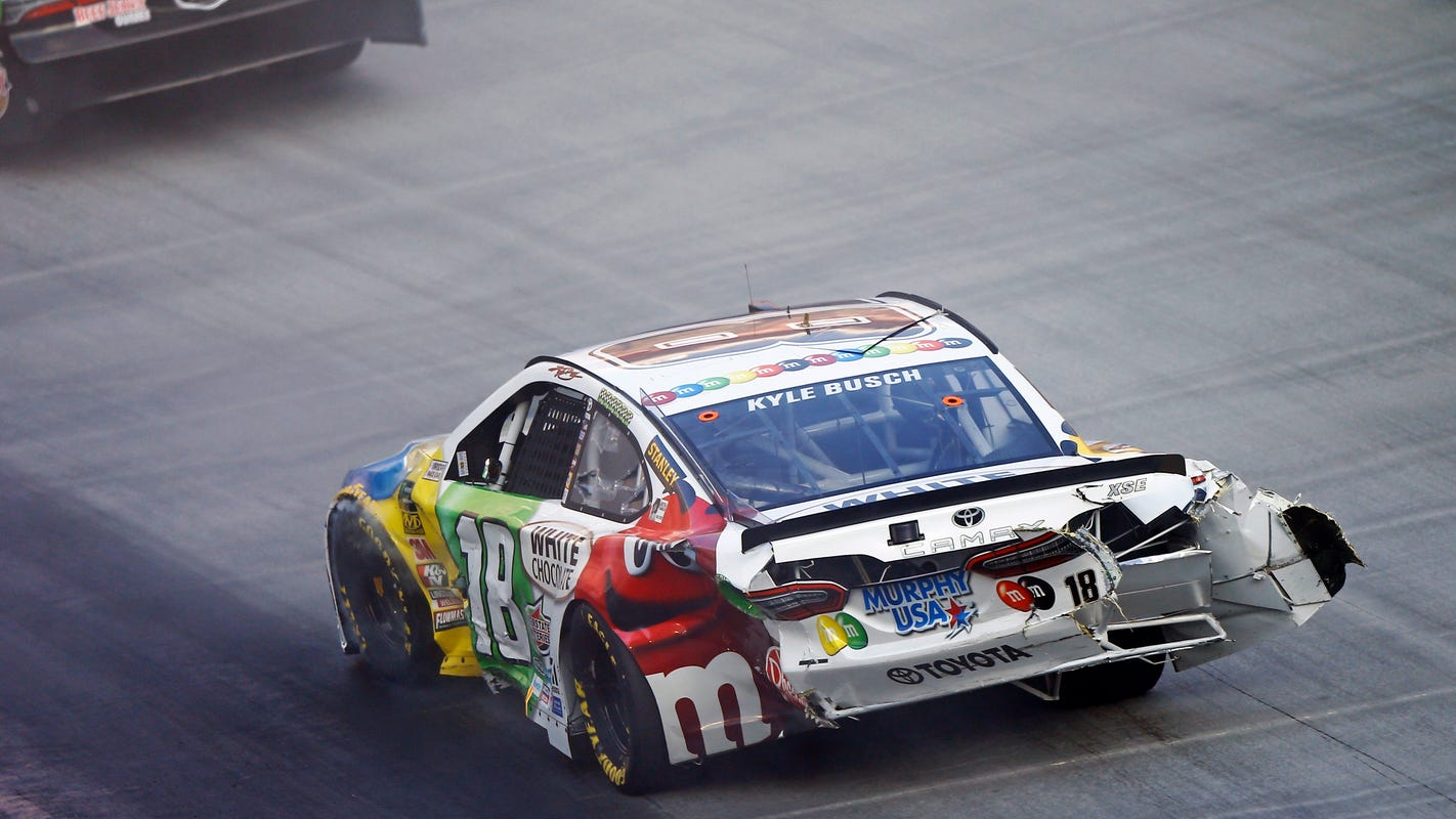 nascar kyle busch not his usual dominant self at bristol this time