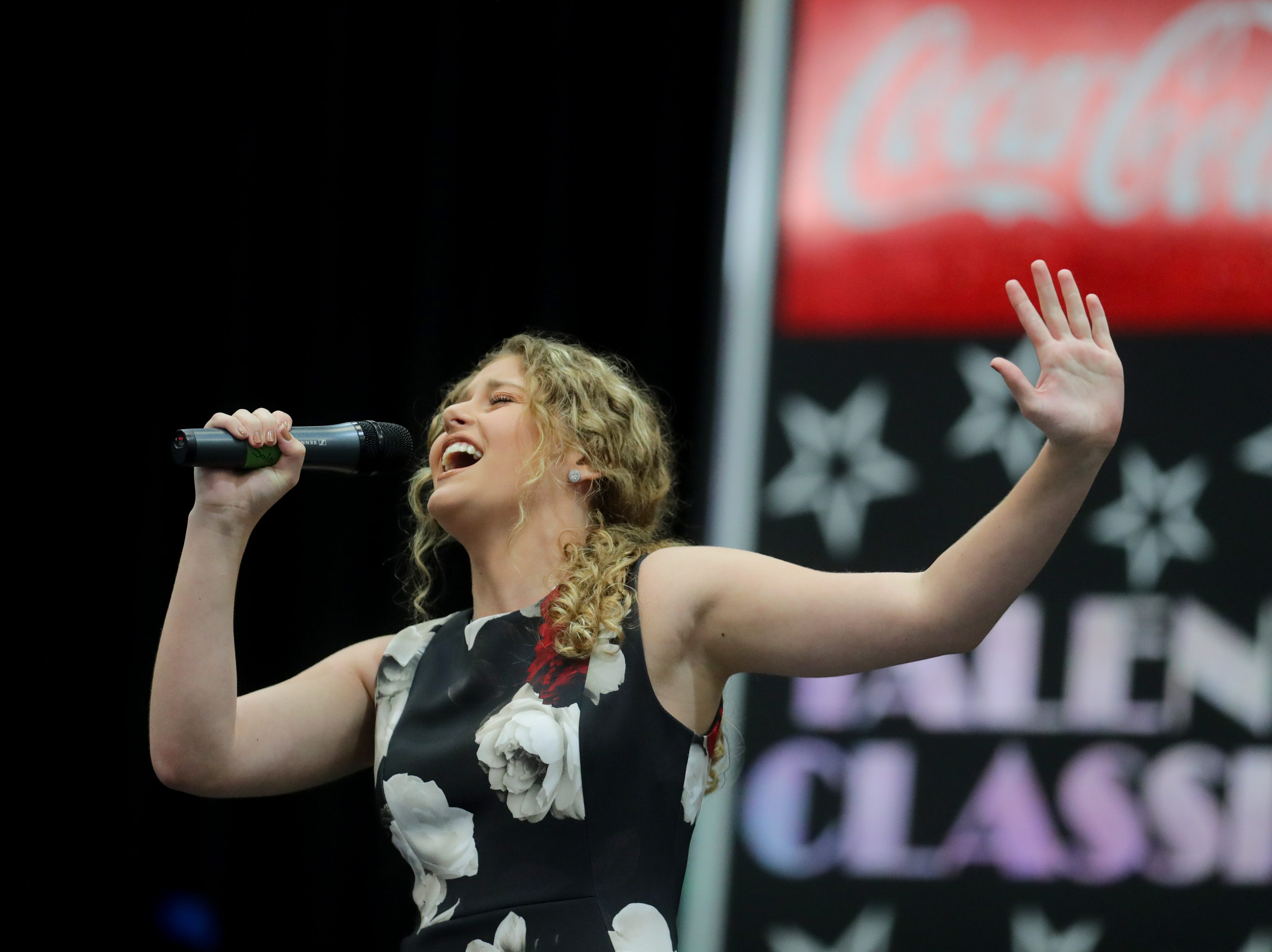 Alyssa Bunnell performs in one of the Coca-Cola Talent Classic semifinals at the  Kentucky State Fair.