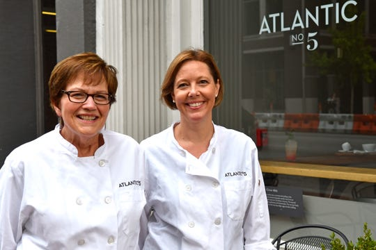 Mary Wheatley, left, and Rebecca Johnson, co-owners of Atlantic No. 5 eatery and general store located at 6th and Main.