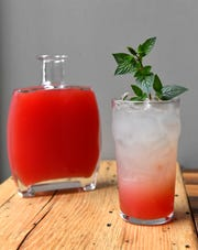 A Lemonade with Watermelon Mint Syrup from Atlantic No. 5, Wednesday, Aug. 8, 2018 in Louisville Ky.
