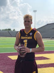 Central Michigan coach John Bonamego has high expectations for Tony Poljan, who heads into the season as the starting quarterback for the Chippewas.