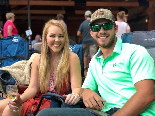Rain couldn't dampen the spirits of hundreds of people who attended Landry Vineyards Music Concert and Blanc Du Bois Grape Stomp Fest Saturday in western Ouachita Parish.