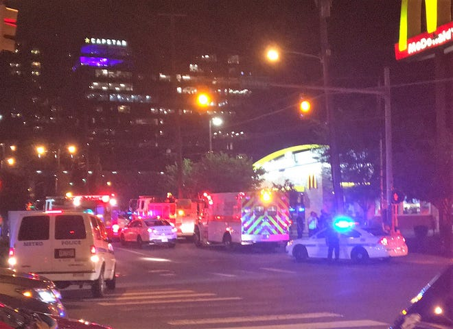 At least six city police units along with at least four Nashville fire vehicles responded to the area near 12th Avenue and Broadway at about 9 p.m.