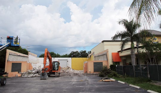 The former Guadalupe Resale & Consignment Shop at 8100 Trail Blvd., next to Tide Dry Cleaners in North Naples, is being redeveloped on spec as retail space.