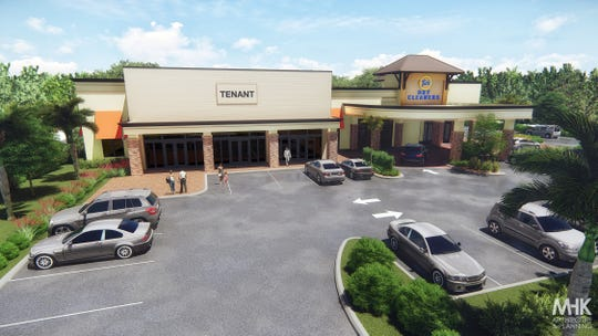 This rendering shows the proposed retail space at the former Guadalupe Resale & Consignment Shop at 8100 Trail Blvd., next to Tide Dry Cleaners in North Naples.