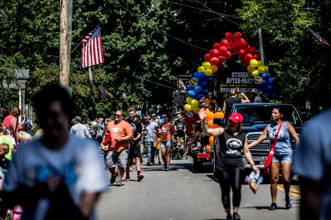 Hundreds of people line the streets in Pataskala for a past annual Pataskala Street Parade. Because last year's parade was scrubbed as a result of COVID-19, this year, multiple parade marshals will be featured.