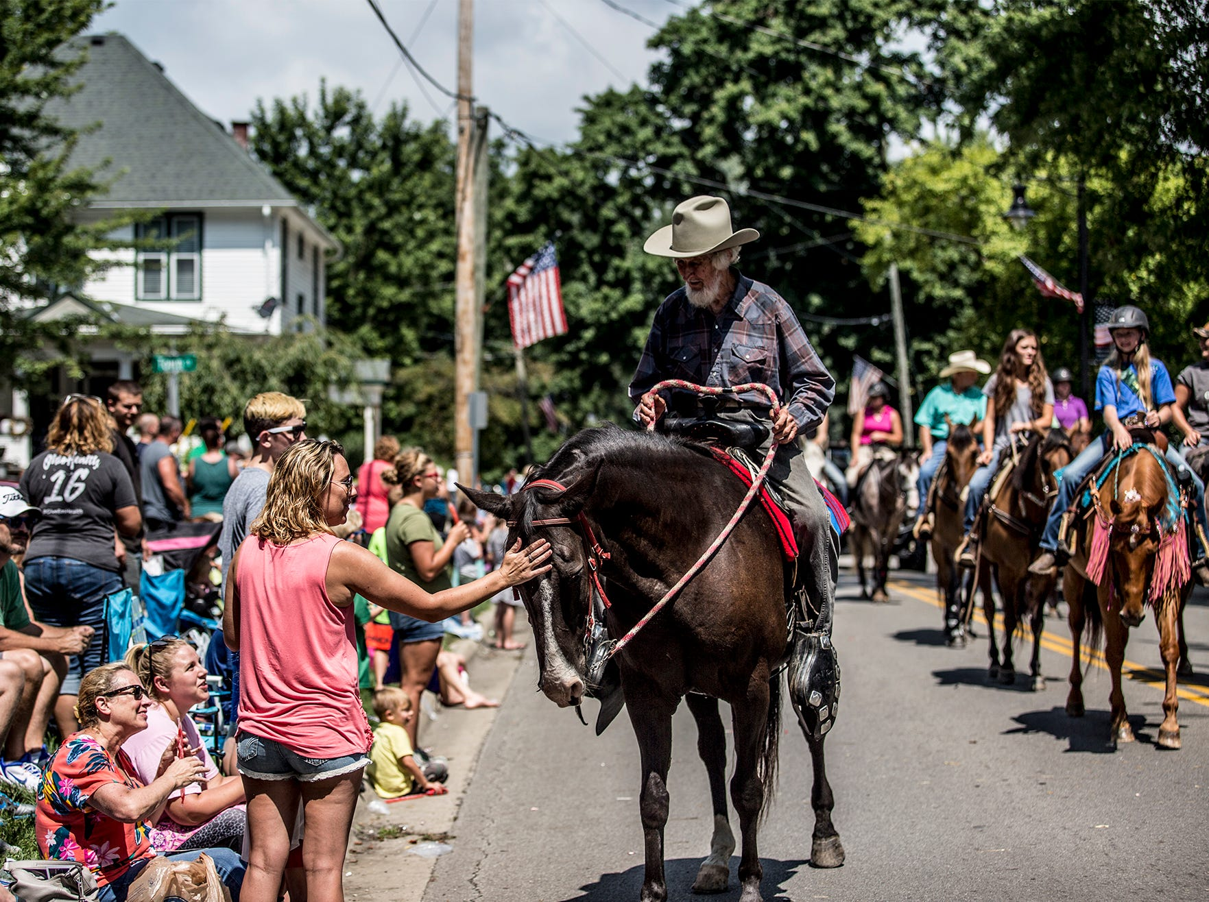 Hundreds of people lined the streets Saturday in Pataskala for the annual Pataskala Street Parade.