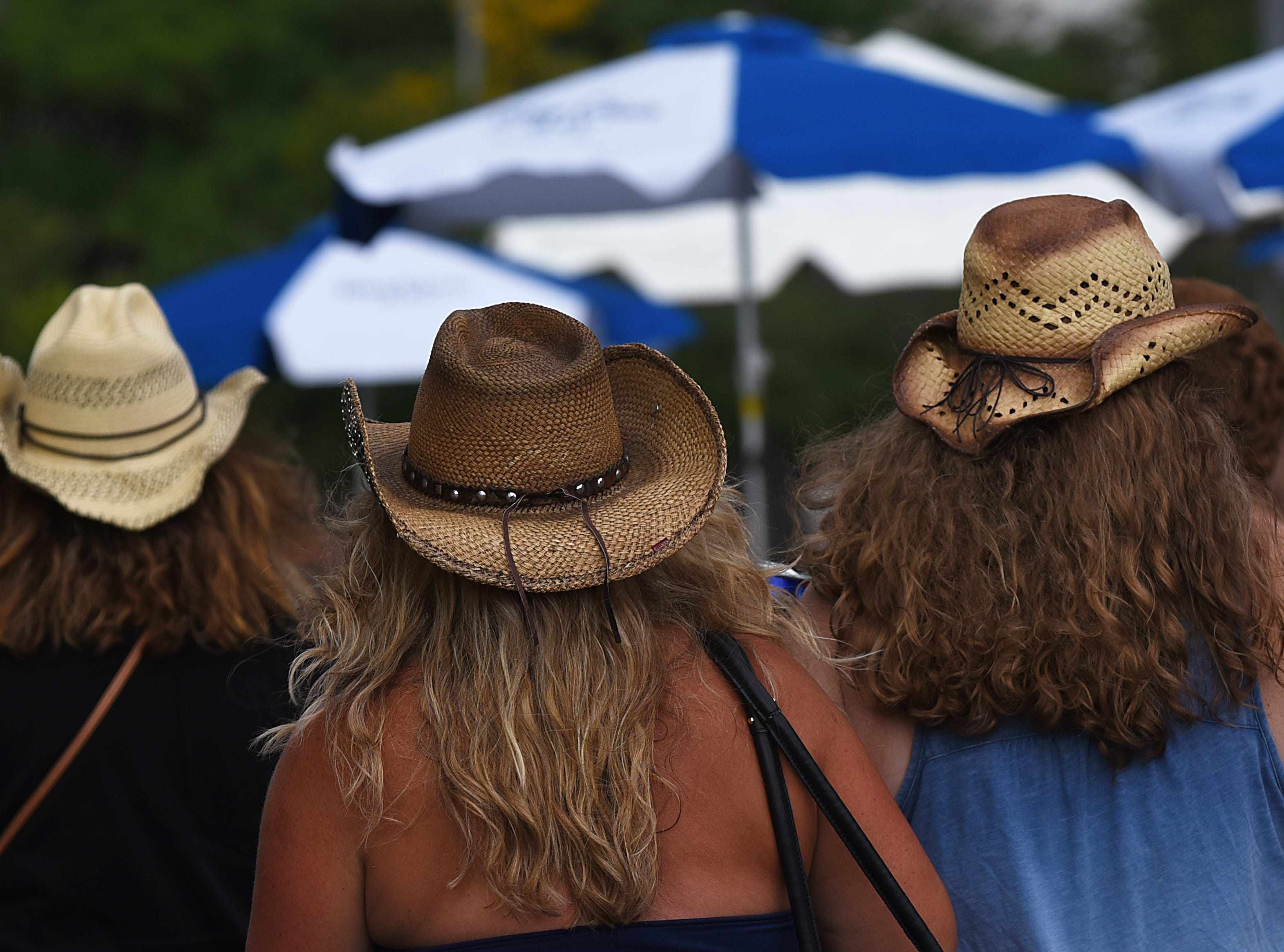 Cowboy hats at the Kenny Chesney concert at MetLife stadium in East Rutherford on Saturday August 18, 2018.