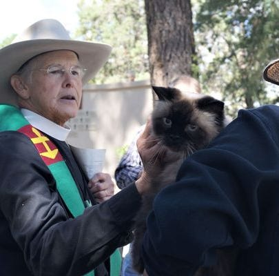 Pets of all denominations blessed Aug. 25 at the Episcopal Church of the Holy Mount in Ruidoso