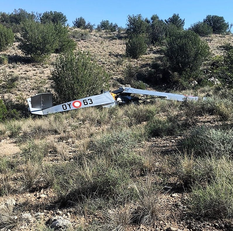 Identities released for  2 killed in homemade airplane crash near Camp Verde Saturday