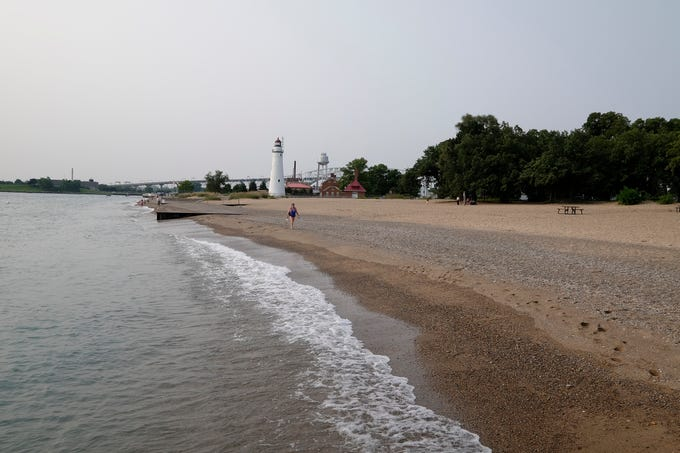 Lighthouse Beach is empty before the swarm of Float-Downers invade for the annual Port Huron Float Down on Sunday, Aug. 19, 2018.