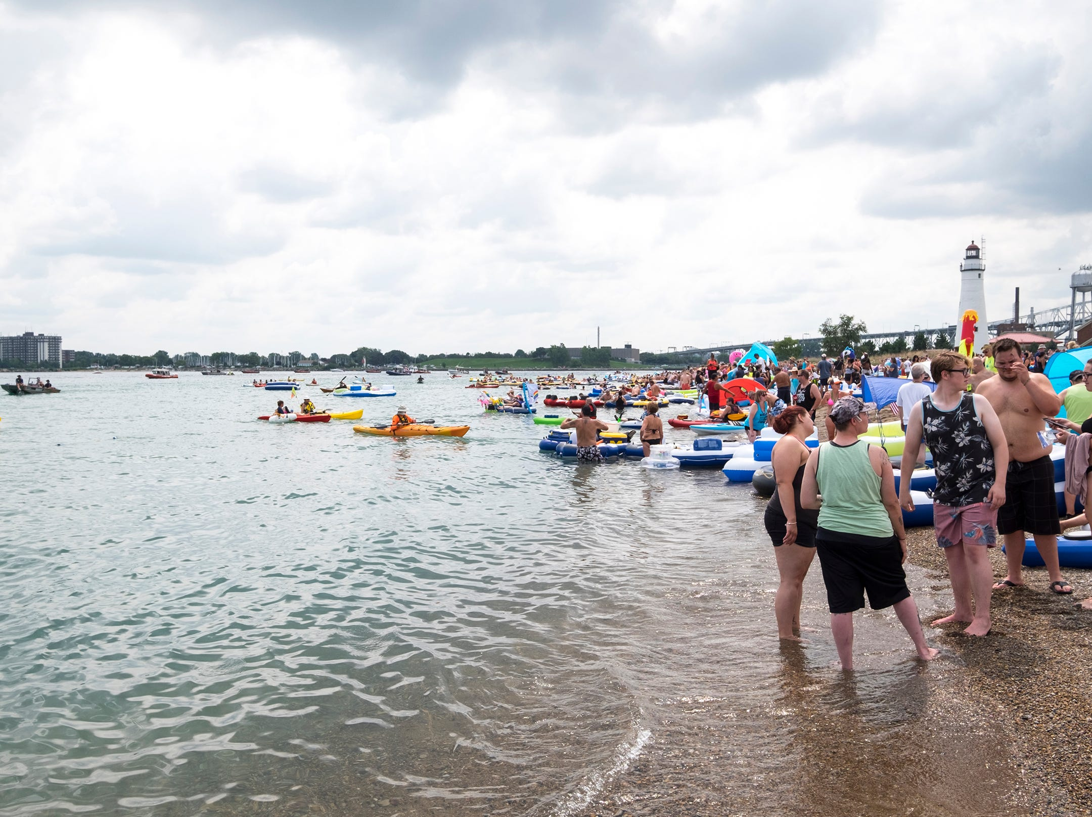 Float Down participants begin launching from Lighthouse Beach Sunday, Aug. 19, 2018.