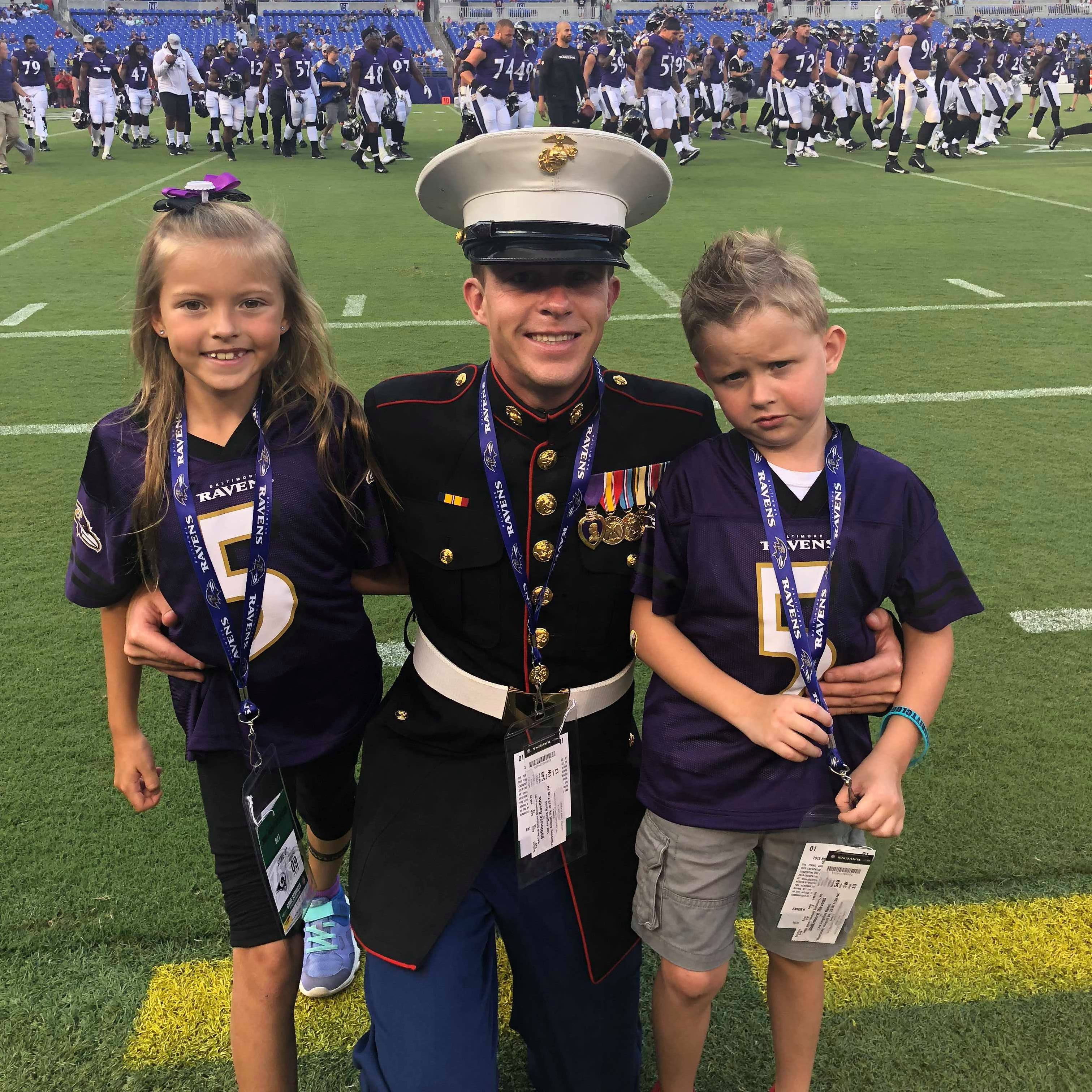 Greencastle man honored as a 'hometown hero' at Baltimore Ravens game