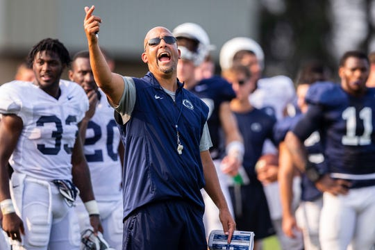 Head coach James Franklin will lead Penn State in its first spring football workout on Wednesday. AP FILE PHOTO