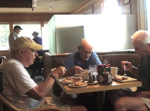 Some of the regular breakfast customers at Corbett's.