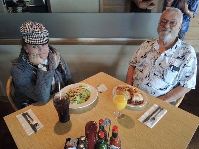 Don Doutt and his daughter Trina, regulars at Corbett's in downtown Redding.