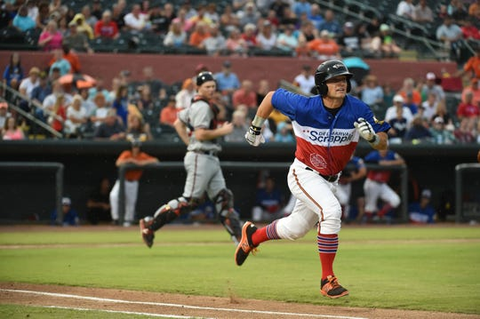 For one night on Saturday, August 18, 2018 the Delmarva Shorebirds became the Delmarva Scrapple. The Delmarva Scrapple battled the Rome Braves and won with a score of 4-2.