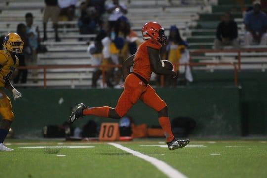 Rickards vs. Miami Carol City at FAMU's Bragg Memorial Stadium, Saturday, Aug. 18, 2018.