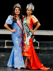 "Erica Adrienne Lustria, 2018 Miss Earth Philippines Florida and Lauren Jonelle Mosley, 2017 Miss Foundation.  Both Miss Tallahassee winners won at Fiesta mo sa Florida, ""Pageant for a Cause."""