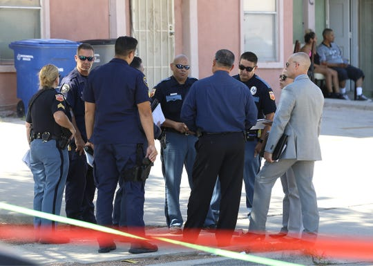 Police investigate a possible homicide on the 10700 block of Forest Ridge in east El Paso Sunday.