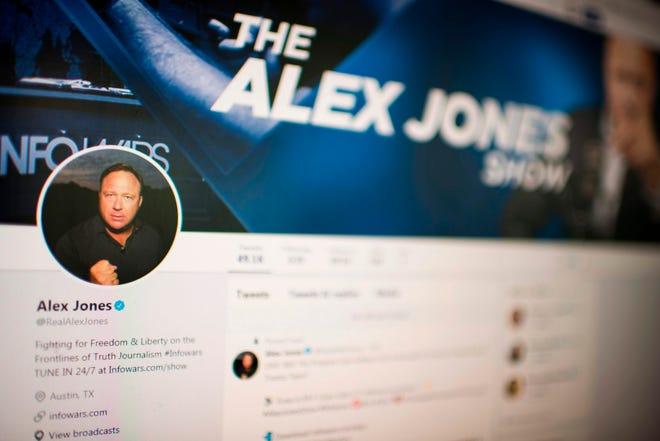 Alex Jones' Twitter account