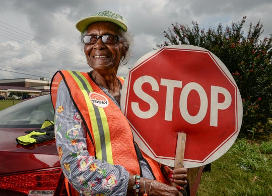 Estella Williams directs traffic in front of Westside High School in Anderson for the last 27 years. Williams recently visited New York and was on the Today show.