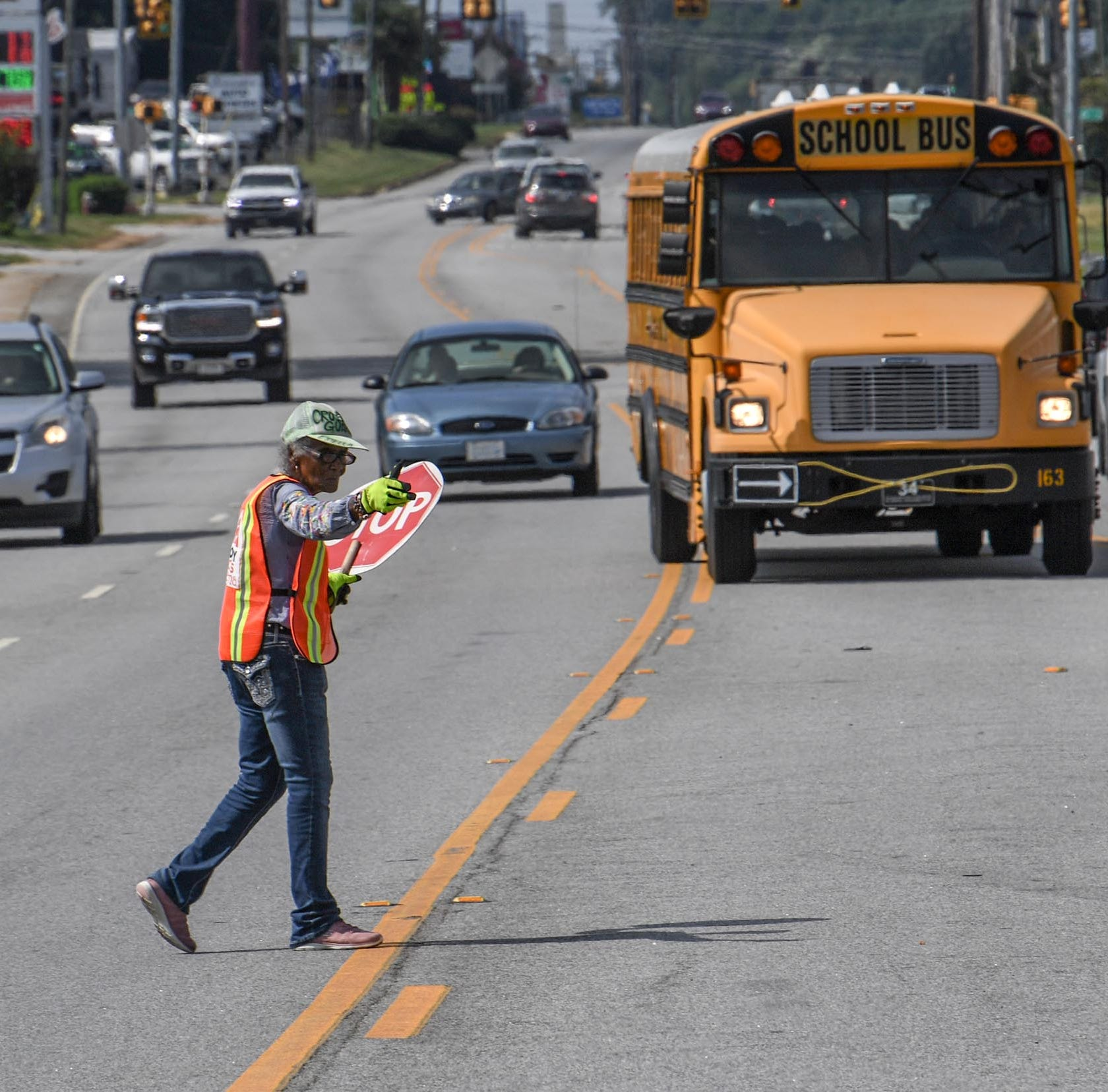 At 91, Estella Williams directs traffic on one of Anderson's busiest highways